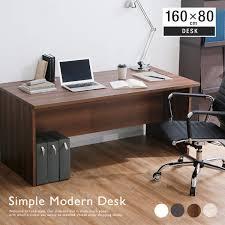 Simple Modern Desk Lala Sty Rakuten Global Market Computer Desk Width 160 Cm 80 Cm