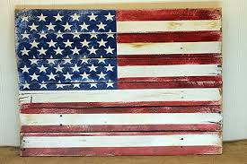 Red White And Blue Home Decor Amazon Com American Flag Reclaimed Wood Pallet Sign Usa Home