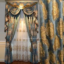 Country Curtains Far Hills Nj Exquisite Floral Pattern Blue Chenille Thick Insulated Blackout