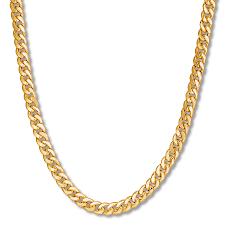 cuban link necklace images Men 39 s miami cuban link necklace 10k yellow gold 24 quot length jpg