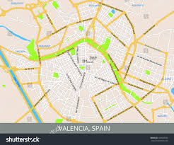 Map Of Valencia Spain by Map Valencia Spain All Objects Located Stock Vector 532930234