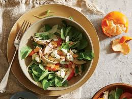 Fennel and Clementine Salad with Chicken  Almonds  and Feta