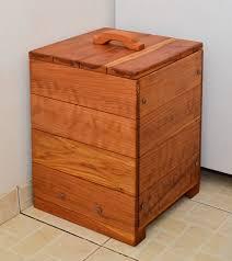 3 Section Laundry Hamper by Laundry Hamper Indoor Furniture Forever Redwood