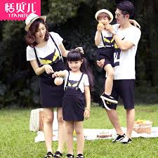 shop free ship 2015 summer new family set parent child