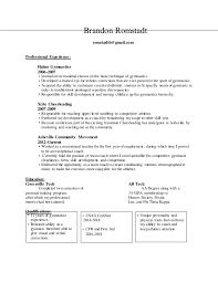 resume deans list linked in gymnastics resume