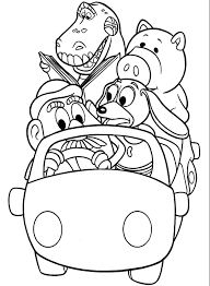 car ride character toy story coloring pages dibujos colorear