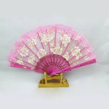 held fans chinece lace held fans tulle folding fans wedding birthday