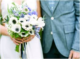 Blue Wedding Flowers Chic Blue And White Summer Wedding Color Palette And Bridal Bouquet