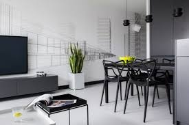 Minimalist Masculine Apartment Design With Neon Details And - Minimalist apartment design