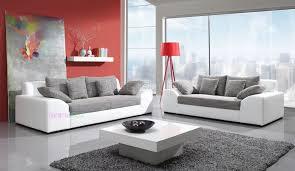 canapé de qualité pas cher canapé fixe 3 2 places design en pu polyuréthane et tissu haute