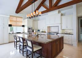 275 L Shape Kitchen Layout Modern Large Single Island Kitchen Featuring Fypon Mesa Style