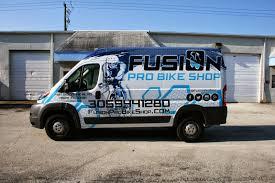 Dodge Ram Cargo Van - dodge promaster vinyl wrapped cargo van miami florida fusion pro