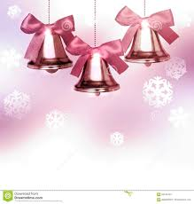 old pink christmas bells with snowflakes stock photo image 62044453