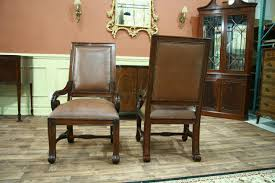 leather dining room chairs with arms leather upholstered dining