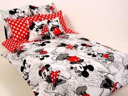 Minnie Mouse Bedspread Set Minnie Mouse Crib Bedding Red Cribs Decoration