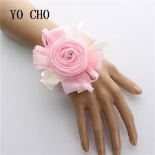 bridesmaid corsage online shop yo cho diy delicate purple wedding wrist corsage