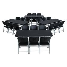 cosco 3 piece black folding table and chair set 37334blk1e the