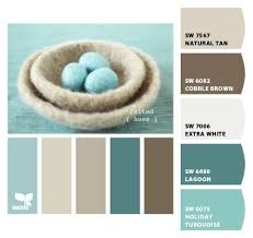 warm muted blue water sand beach mink brown tan taupe ivory cream