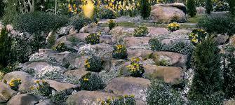 unusual idea how to design a rock garden with rocks