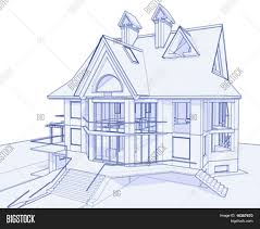 how to draw blueprints for a house 3d blueprint house vector vector photo bigstock
