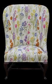 Vintage Floral Upholstery Fabric Botanical Vintage Armchair Floral Print Upholstery Fabric Chair