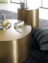 gold drum coffee table drum side table design within reach