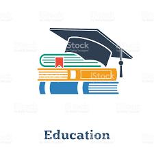 graduation books graduation cap and books the concept education stack of books