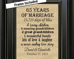 65 wedding anniversary 65th anniversary etsy