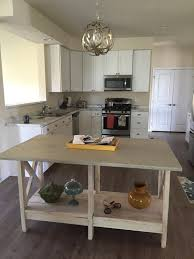 Barnwood Kitchen Island Check Natural Wood Kitchen Island With Oval Sink Industrial Mill
