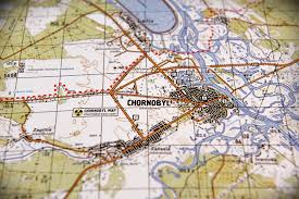rub and tug map the detailed map of the chornobyl zone with places of