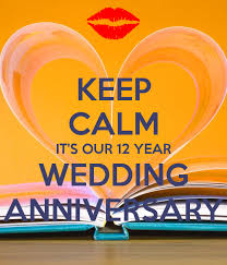 year wedding anniversary keep calm it s our 12 year wedding anniversary poster test test