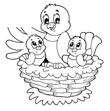 bird nest coloring page birds nest coloring page for kids free