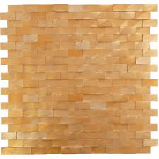 uniform brick gold metal tile brushed dsn020 copper dimensional
