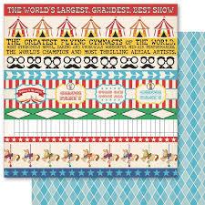 circus scrapbook paper 12 x12 disney theme park scrapping the magic