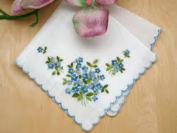 something blue wedding forget me not something blue bridal handkerchief