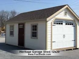 12 X 20 Barn Shed Plans Heritage Garage 12x20 By Fox U0027s Country Sheds Youtube