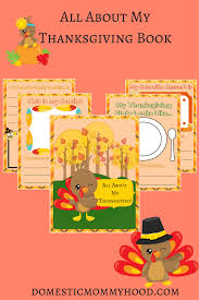 thanksgiving book all about my thanksgiving printable activity book domestic mommyhood