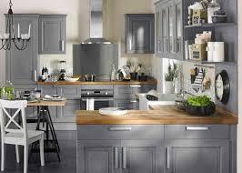 cuisine bois gris clair deco cuisine bois clair collection et kitchens id deco cuisine