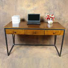 industrial loft office with a laptop computer desk drawer vintage