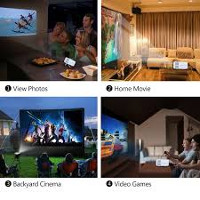 amazon com 2200 lumens 3d lcd projector with hdmi input mini