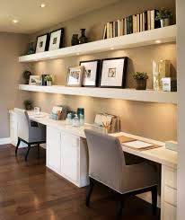 White Office Desk by Contrast Your White Built In Desk With Dark Wooden Floors While
