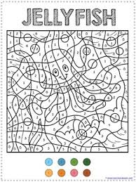 color by number ocean animals coloring pages ocean number and