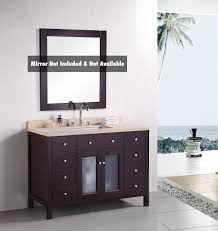 design element venetian single 48 inch transitional bathroom
