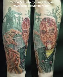 zombie graveyard tattoo design tattoos book 65 000 tattoos designs