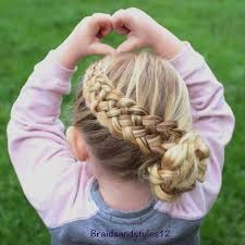 latest dutch braid with side hair bun little girls hairstyles for