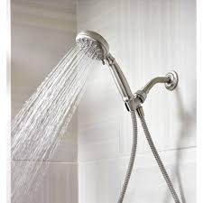 Nickel Finish Bathroom Accessories by Attractive Bathroom With Nickel Bath Faucet Hand Shower And A