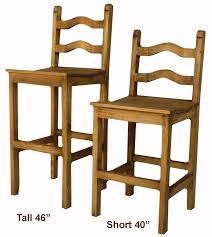 Ladder Back Bar Stool Rustic Bar Stools Rustic Barstool Rustic Pine Wood Bar Stools
