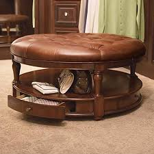 coffee table best 10 round leather storage coffee table round