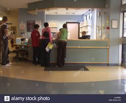 Hospital Reception Desk Reception Desk At British Nhs Hospital Stock Photo Royalty Free
