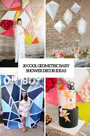baby shower decorating ideas 20 cool geometric baby shower décor ideas shelterness